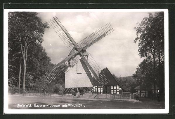 AK Bielefeld, Bauern-Museum mit Windmühle