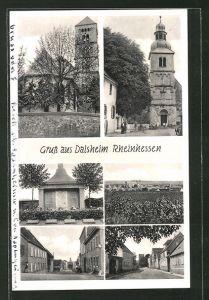 AK Dalsheim i. Rheinhessen, Kriegerdenkmal, Kirche