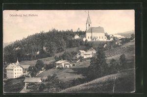 AK Dürnberg, Ortsansicht mit Kirche aus der Vogelschau