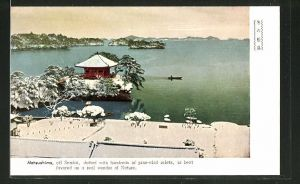 AK Matsushima, Blick auf Pagode und See
