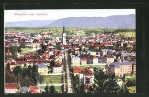 AK Klagenfurt, Ortsansicht vom Kreuzberg aus