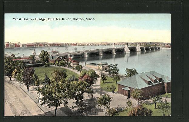 AK Boston, MA, West Boston Bridge, Charles River