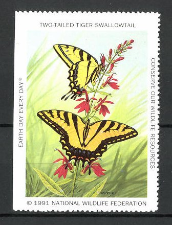 Reklamemarke National Wildlife Federation 1991, Two Tailed Tiger Swallowtail
