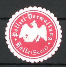 Reklamemarke Polizei-Verwaltung Halle (Saale)