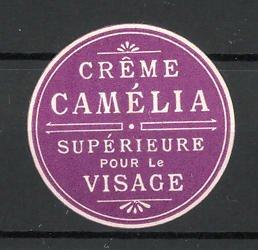 Präge-Reklamemarke Creme Camella, Superieure pour le Visage