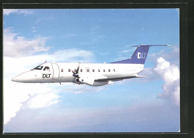 AK Flugzeug EMB 120 der Deutschen Luftverkehrsgesellschaft (DLT)