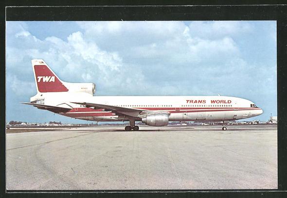 AK Flugzeug Lockheed L-1011-1 der Trans World Airlines (TWA) am Boden