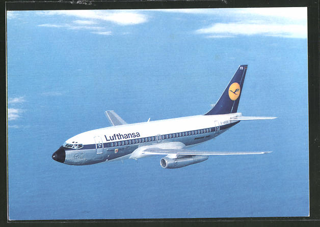 AK Flugzeug City Jet B737 der Gesellschaft Lufthansa in der Luft