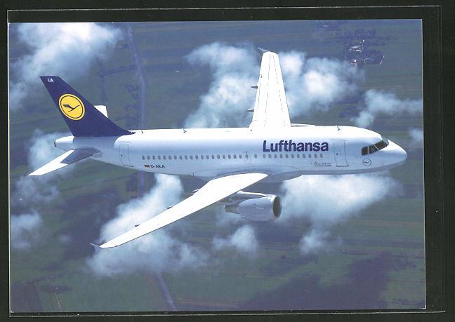 AK Flugzeug airbus A319-100 der Lufthansa in der Luft