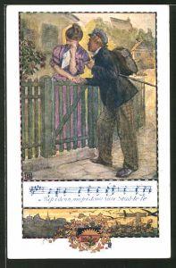 AK Deutscher Schulverein Nr.367: Liedzeile