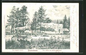 AK Friedrichsruh, der siegende Hirsch und das Schloss des Fürsten Bismarck