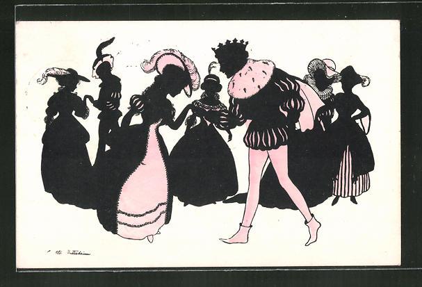 Künstler-AK Ov. Alt-Stutterheim: Aschenputtel tanzt mit dem Königssohn