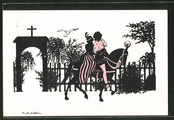Künstler-AK Ov. Alt-Stutterheim: Der Königssohn mit der falschen Braut, Szene aus Aschenputtel