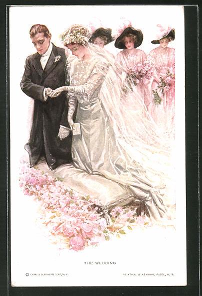Künstler-AK Harrison Fisher: The Wedding, Bei der Hochzeit