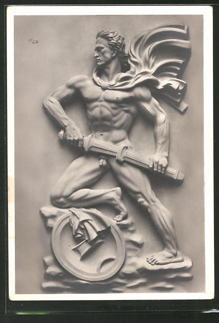 Künstler-AK Arno Breker: Relief