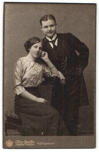 Fotografie Max Spalke, Wetzlar, Portrait junges bürgerliches Paar