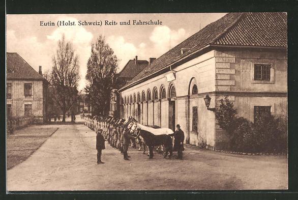 AK Eutin / Holst. Schweiz, auf dem Gelände der Reit- und Fahrschule