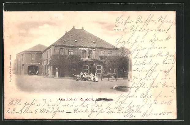 AK Raisdorf, Gasthof zu Raisdorf von A. Heitmann