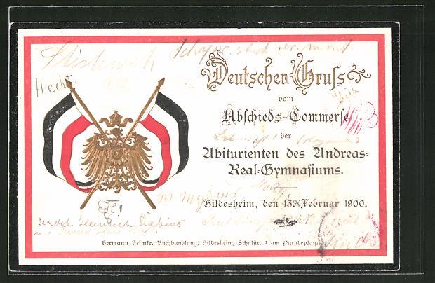 AK Hildesheim, Abschieds-Commers der Abiturienten des Andreas-Real-Gymnasiums 1900