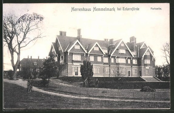 AK Hemmelmark, Herrenhaus Hemmelmark, Parkseite