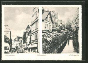 AK Delmenhorst, Dehnegarten, Langestrasse mit Geschäften
