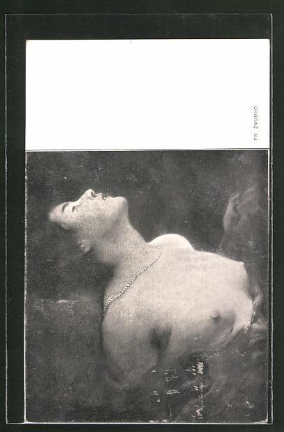 Künstler-AK Franciszek Zmurko: Frau mit nackter Brust, Halbakt