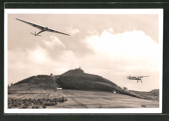 AK Segelflugzeug in der Luft