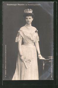 AK Grossherzogin Alexandra von Mecklenburg-Schwerin mit Krone