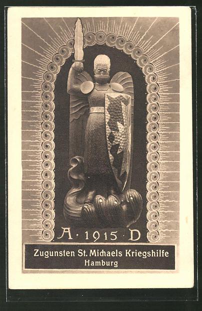 AK Hamburg, Zugunsten St. Michaels Kriegshilfe 1915