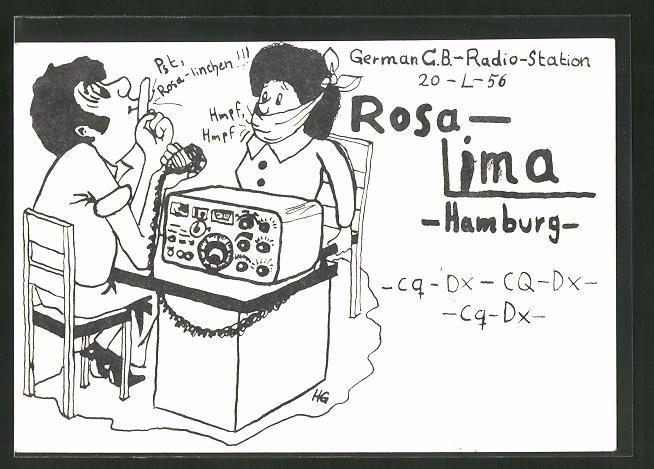 AK Hamburg, Rosa-Lima, German C.B.-Radio-Station