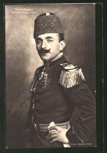 AK Porträt von türkischer Kriegsminister Enver Pascha