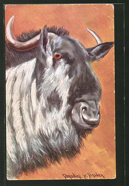 Künstler-AK Ermenegildo Carlo Donadini: Ziegenbock