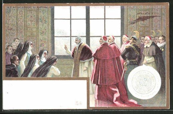 Künstler-AK S.S: Nelle Loggie di Raffaello, Porträt Papst Leo XIII.