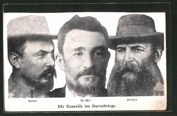 AK Die Generäle im Burenkrieg: Botha, de Wet und Delarey