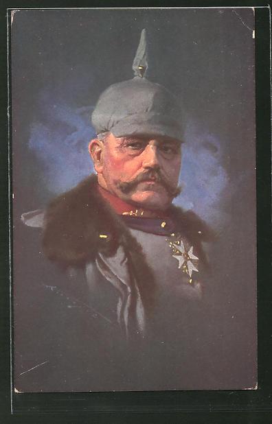 Künstler-AK Ludwig Knoefel: Generalfeldmarschall Paul von Hindenburg