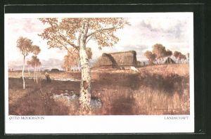Künstler-AK sign.: Otto Modersohn, Landschaft