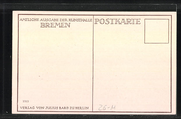 Künstler-AK sign.: Otto Modersohn, Landschaft 1
