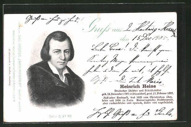 AK Serie: Das grosse Jahrhundert, Porträt von Heinrich Heine 0