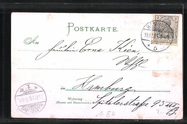 AK Serie: Das grosse Jahrhundert, Porträt von Heinrich Heine 1
