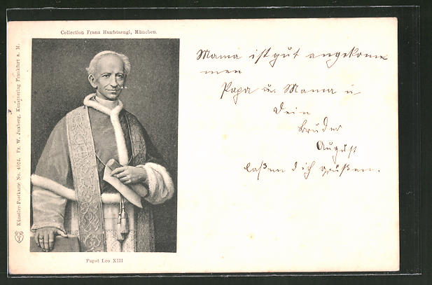 Künstler-AK Porträt von Papst Leo XIII. 0
