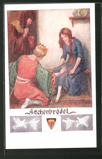 Künstler-AK Deutscher Schulverein Nr. 564: Szene aus dem Märchen
