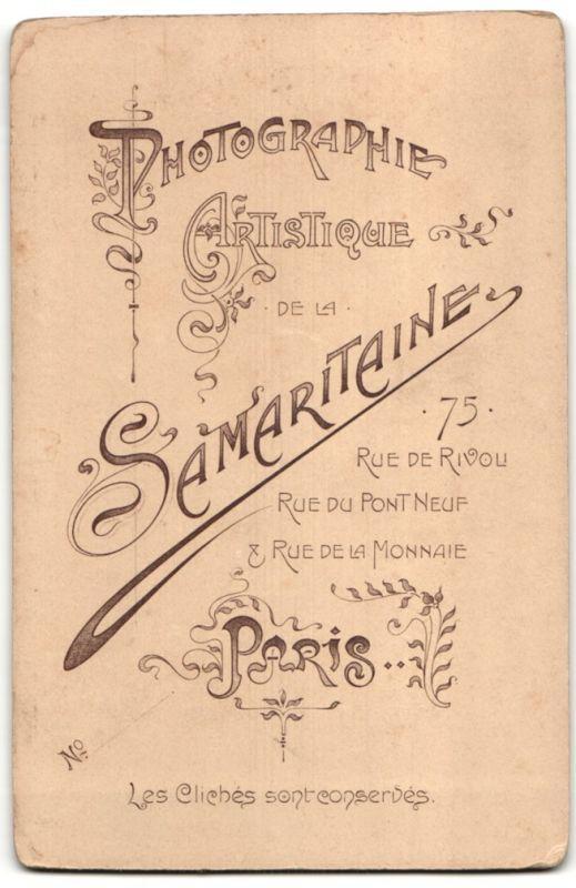 Fotografie Samaritaine, Paris, Portrait Herr mit Schnauzbart 1