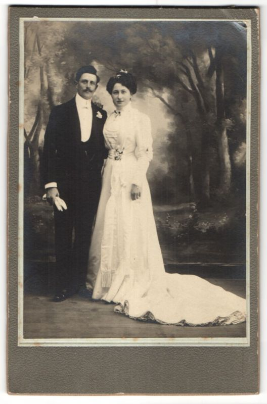 Fotografie C. Phocion, Aubervilliers, Portrait gutbürgerliches Hochzeitspaar