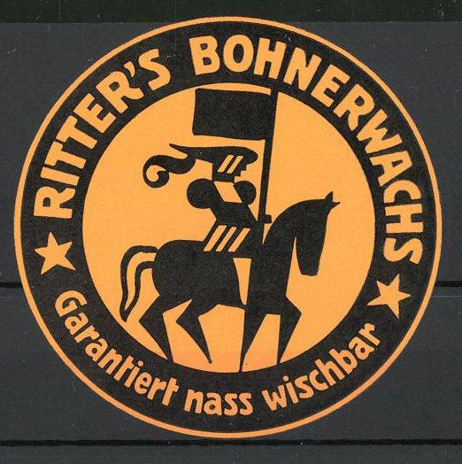 Präge-Reklamemarke Ritter's Bodenwachs,