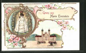 Präge-Lithographie Einsiedeln, Kloster Maria Einsiedeln, Madonna