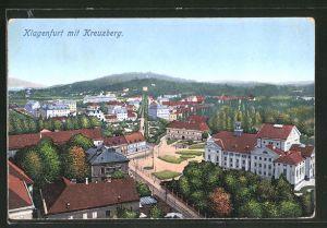 AK Klagenfurt, Teilansicht mit Blick zum Kreuzberg