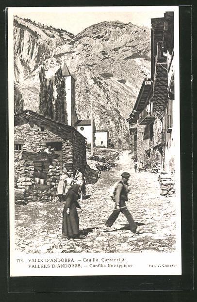 AK Valls d'Andorra, Canillo, Carrer tipic, Rue typique