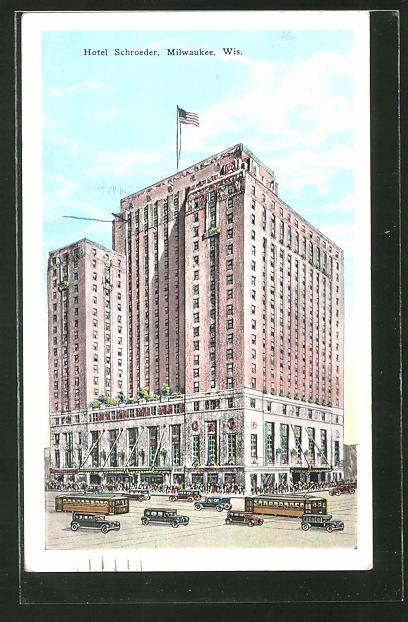 AK Milwaukee, WI, Hotel Schroeder