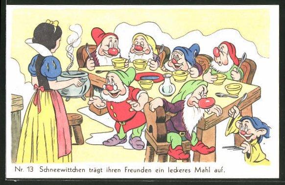 AK Walt Disneys Schneewittchen Nr. 13: