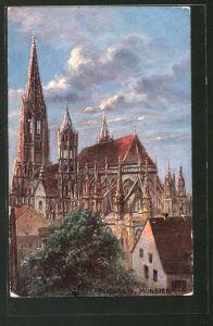 AK Freiburg i. B., Blick aufs Münster